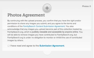FamilySearch agreement
