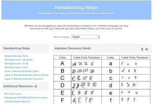 Genealogy Handwriting